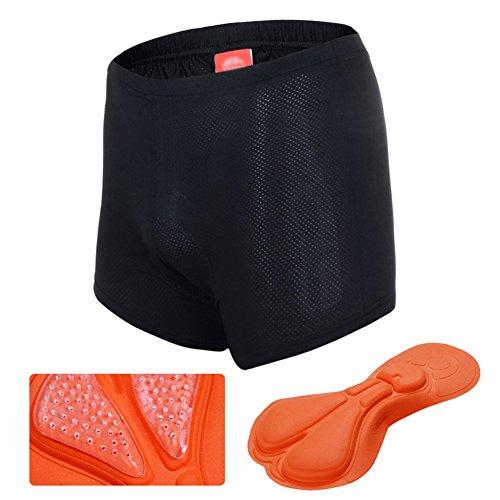 Outdoor Peak Sous-vêtement de cyclisme pour homme, Noir homme, xl