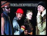 1art1 The Black Eyed Peas Poster Kunstdruck und MDF-Rahmen
