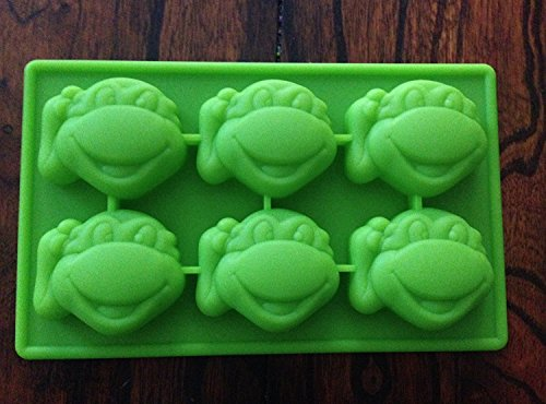 Teenage Mutant Ninja Turtles Silicone Candy Mold Chocolate Mini Cake Pan