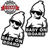 SkinoEu® 2 x Adesivi Vinile Stickers Autoadesivi Bimbo a Bordo Baby On Board Bambino per ...