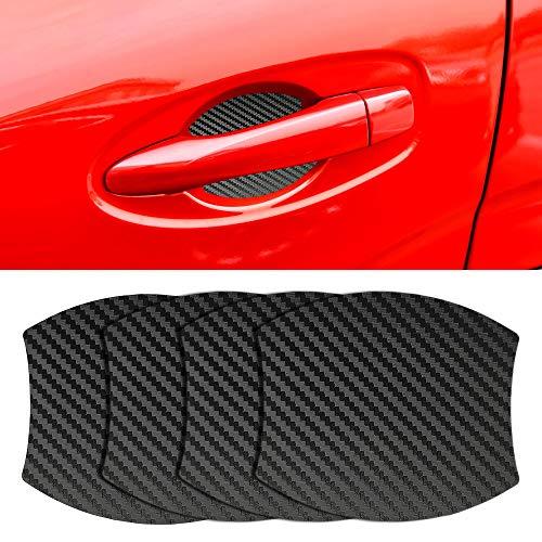 MLING 4 Pezzi Magnetico Auto Porta Maniglia Scanalatura Protettore Anti Graffio Protettive Copertina Compatibile per Kuga