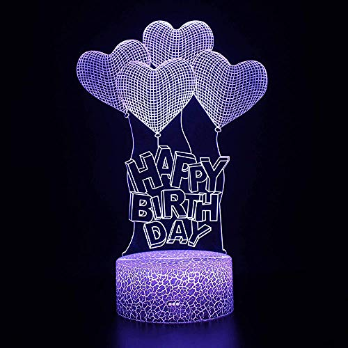 zxcvbnm 3D Soccer Night Light for Kids,16 Colors Football Illusion Table Desk Lamps Changing with Remote Control and Smart Touch Home Decor Best Birthday Xmas Gifts for Kids Boys Girls-Soccer,White