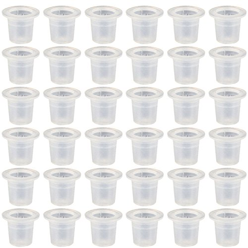 1000 Pcs Tasses de Pigment d'Encre de Tatouage,1.3 x 1.1cm,Plastique Jetable
