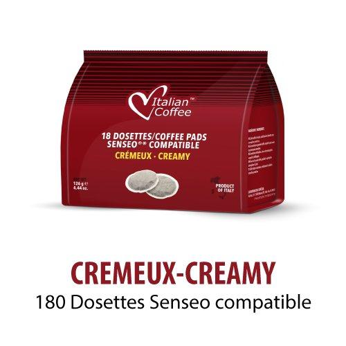 180 MONODOSIS CREMOSO (10X18 PADS) SENSEO COMPATIBLE