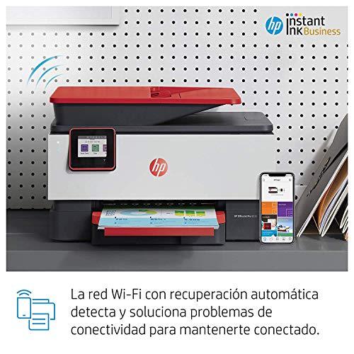 HP OfficeJet Pro 9016 - Impresora multifunción (imprime, copia, escanea, fax, Pantalla táctil en color, Memoria 512 MB, impresión y escaneado a doble cara, Wi-Fi). Cartucho de tinta Original HP 963