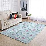 Cyliyuanye Alfombra elegante con diseño de conejo de Pascua, para salón, dormitorio, comedor, duradera, 91 x 152 cm, color blanco