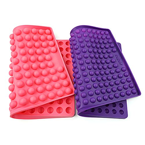 Collory Silikon Backmatten Set für Hundekekse (2 Stück) | 1.5cm + 2cm Halbkugel Backform | Hundeleckerlies Halbkugelmatte | Pralinenform | Hitzebeständig | Antihaftend & lebensmittelecht (BPA-frei)