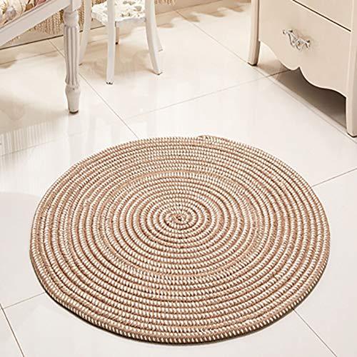 Hwenli ronde tapijtmatten, pluizig tapijt voor meisjes slaapkamer massief Scandinavische huis decoratieve Placemat bank tafel stoel mat verkrijgbaar in drie kleuren