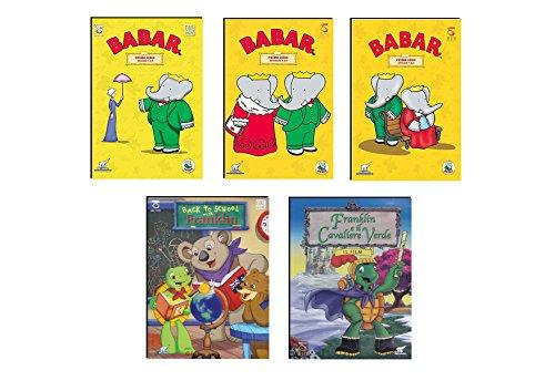 Offerta 5 DVD Animazione per Bambini, Babar e Franklin, Età Prescolare, Cartoni Animati per Bambini 3 - 6 Anni NO Walt Disney