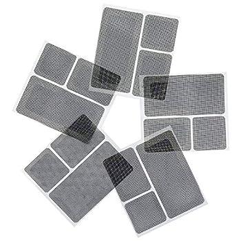 MAGZO Screen Repair Kit Black Fiberglass Material Strong Adhesive Screen Patches for Windows and Doors 15 Patches(1⅞  x 1⅞  x 5 PCS (2¾  x 1⅞  x 5 PCS (4¾  x 2⅜  x 5 PCS