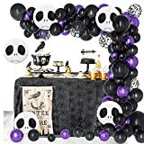 Halloween Party Decoration Balloon 145PCS and Scary Skull Foil Balloon for Indoor Outdoor Halloween Birthday Decor