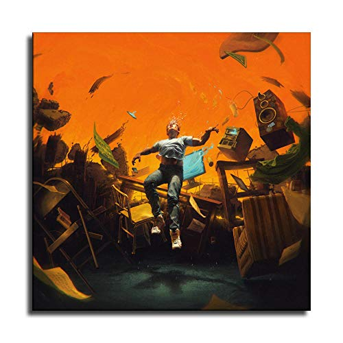 Logic No Pressure Album Cover Rapper Hip Hop Canvas Art Poster and Wall Art Picture Print Modern Family Bedroom Decor Posters