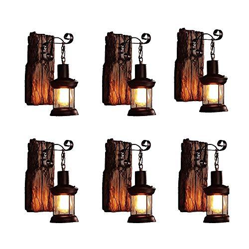 American Rural Style wandlamp slaapkamer nachtkastje creativiteit persoonlijkheid vintage industriële wind gangschip loft schip hout wandlamp muur lantaarn