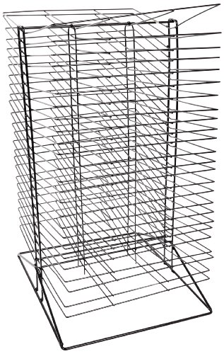 Sax All-Steel Double Sided Wire Drying Rack, 50 Shelves, 17 x 20 x 30 Inches, Steel, Black - 216782