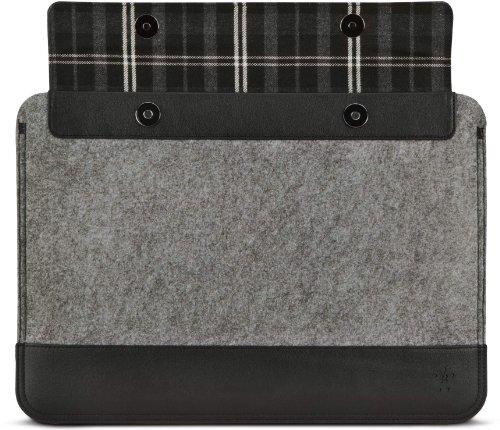 Belkin Wollfilz-Schutzhülle mit Lederelementen (geeignet für Notebooks bis 33 cm (13 Zoll)) grau