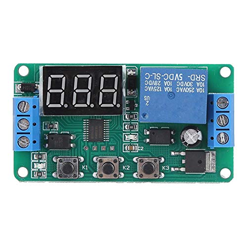 Relaismodule, DC 5V/12V enkelkanaals tijdschakelaar Relaismodule Triggercyclus Instelbaar timerrelais - kwaliteit is onze cultuur(5VDC)
