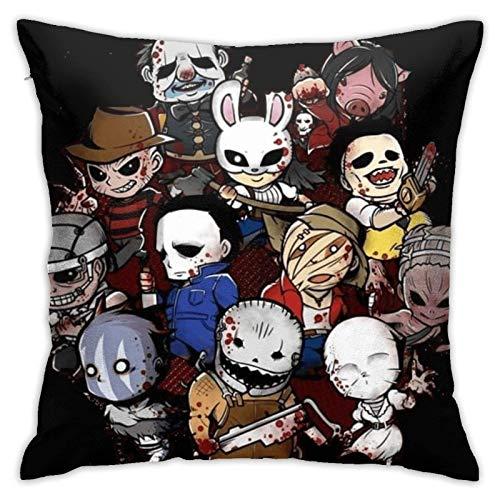 WH-CLA Pillow Cover Dead by Daylight Zipper 45X45Cm Fundas De Cojines Sofá Interiores De Cojines De Coche Sofá Suave Fundas De Respaldo Fundas De Almohada Duradera Única Oficina Anime So