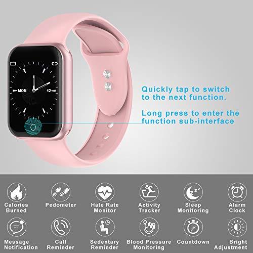 Montre Connectée,KUNGIX Bluetooth Smartwatch Tracker d'Activité Tension Artérielle Montre Sport...