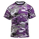 ロスコ カラーカモ Tシャツ (XL, バイオレットカモ)