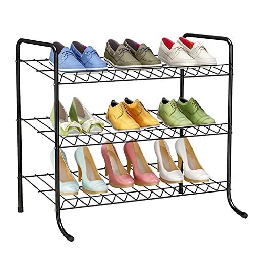 Shoes Rack Rack Shoe Metal Forjado Hierro Zapato Estante de Almacenamiento Rack Dormitorio Sala de estar Corredor Organizador de zapatos 68 × 37 × 57cm Shoes Rack Organizador ( Color : Silver )