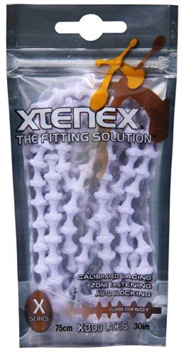 Xtenex Unisex-Erwachsene Schnürsenkel Sport, Weiss, 75 cm