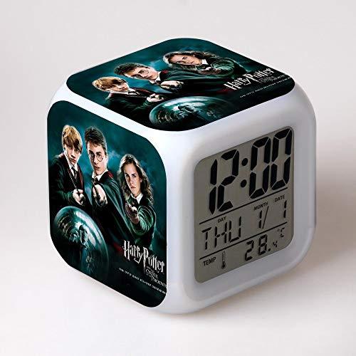 baratos y buenos reloj despertador mzl harry potter LED despertador de humor colorido calidad