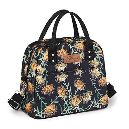 HOMESPON Sac Isotherme Repas Lunch Bag Portable Sac à Déjeuneren Tissu Imperméable Pliable Sac Pique-Nique Multi-Usages à l'École au Travai pour Les Adultes, Enfants