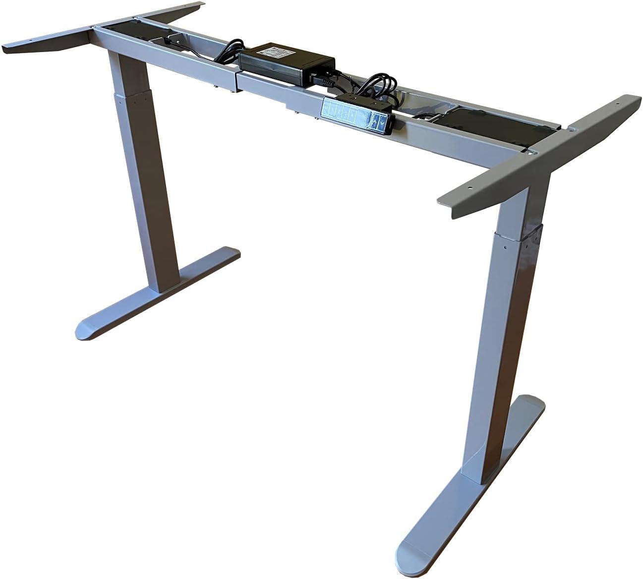 Space Symphony Electric Height Adjustable Dua Frame Desk Translated favorite Gray