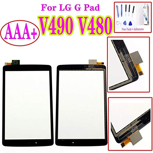 Screen Replacement kit Fit for LG G Pad F 8.0 V480 V490 Touch Screen Digitizer Glass Lens Sensor Panel Replacement+Tools+Tapes Repair kit Replacement Screen (Color : Only Touch)