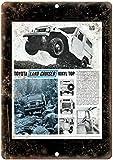 Toyota Land Cruiser Vinyl Top Jeep Zinn Zeichen Metall