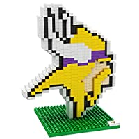 Forever Collectibles NFL Team BRXLZ 3D Logo Puzzle Set (Minnesota Vikings)