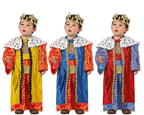 Atosa-32130 Atosa-32130-Disfraz Rey Mago nio beb-talla color SURTIDO-Navidad, multicolor, 12 a 24 meses (32130)