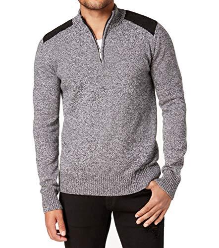 Sean John Mens Winter Warm Henley Sweater Black XL