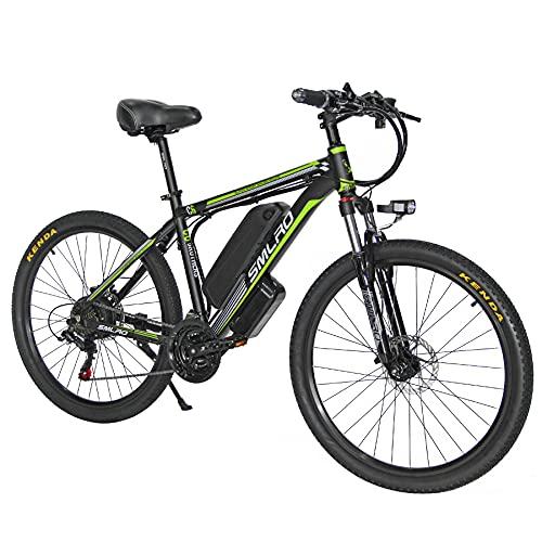 Bici elettriche TAOCI per adulti, 26' 48V 1000W E-Bike con batteria Shimano 13AH rimovibile a 21 velocità, velocità massima: 45 km/h, mountain bike elettrica in lega di alluminio per viaggi pendolari