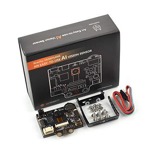 DFROBOT HUSKYLENS スマートビジョンセンサー シリコンケース付き   AIカメラサポートオブジェクト/ライントラッキング、フェイス/オブジェクト/カラー/タグ認識