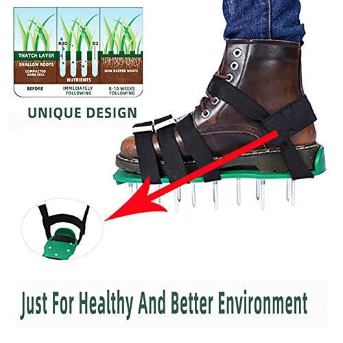EDAHBJNEST5MK Rasenlüfter Schuhe, Rasenbelüfter-Nagelschuhe Rasenbelüfter Rasenlüfter Rasen Vertikutierer Rasen Nagelschuhe für Haus und Garten (1)
