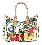 Desigual - Bag Clio London Women, Shoppers y bolsos de hombro Mujer, Blanco (Crudo), 15.5x25.5x32 cm (B x H T)