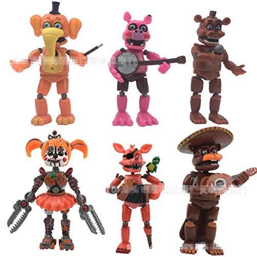 Qwead Five Nights At Freddy'S Toys Puppet Bonnie Chica Foxy Bear Endoskeleton Shadow Figuras De Acción Muñeca Modelos Juguetes 18Cm