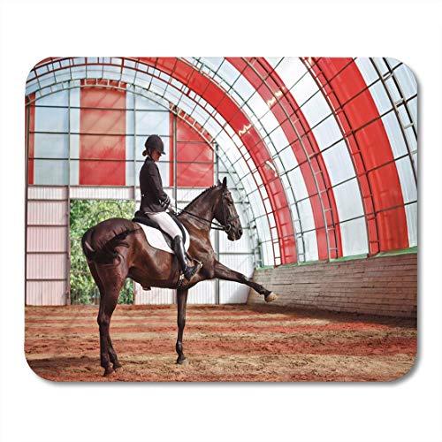 Muispads Sweet Girl Jockey paard in de overdekte Arena Training Mouse Pad voor notebooks, desktop computer matten
