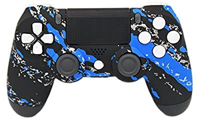 Blue Splatter PS4 Modded Rapid Fire Controller, Works With All Games, COD, Infinite Warfare, Destiny, Rapid Fire, Dropshot, Akimbo & More