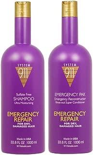 Hayashi 911 Shampoo, 1000 Ml and 911 Emergency Pack, 1000 Ml Combo Package