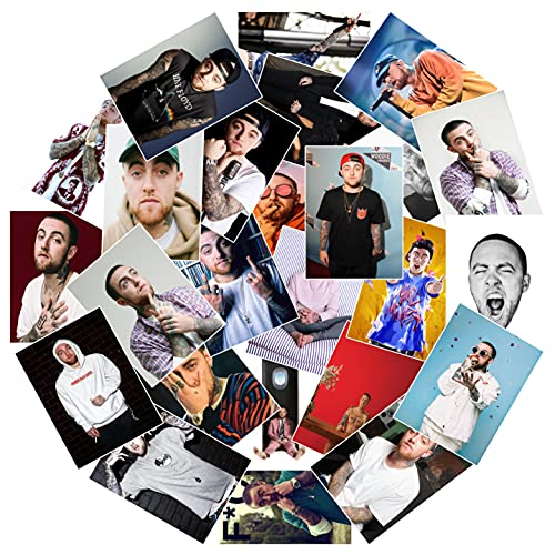 Mac Stickers - 25 PCS Vinyl Memorial Decal Photocard Set for Water Bottles, Laptops, Phones