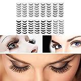 Frcolor 80 Pairs 8-Style Natural Fake Eyelashes Thick Long Eye Lashes Black Soft Fake Lash