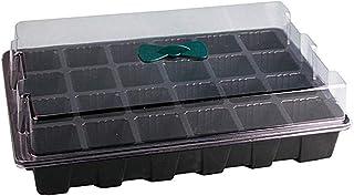 Negro 10Pcs 12-Cells Semillero con Tapa Propagador Bandeja Germinador Bandejas de Iniciaci/ón de Pl/ánTulas Bonsai jardineria