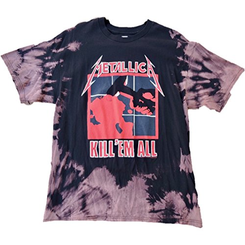 """Hand Bleached Vintage Inspired Metallica """"Kill Em All"""" Band Tee"""
