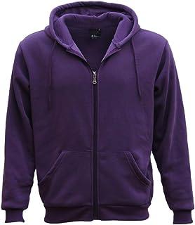 Zmart Australia Adult Unisex Plain Fleece Hoodie Hooded Jacket Men's Zip Up Sweatshirt Jumper