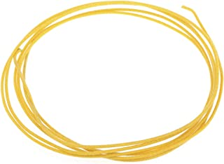 Gavitt Vintage Style Pre-tinned Push-back Cloth Covered Stranded Wire for Amplifier, Yellow 6 Feet (2 Meters)