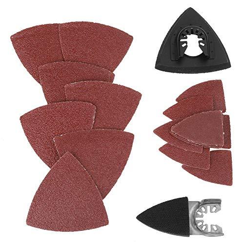Find Bargain 82pcs Triangular Hook & Loop Sandpaper Sanding Sheets Oscillating Multitool Sand Pad fo...