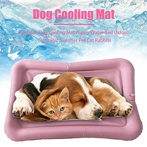 Zacha Haustier-Kühlmatte, aufblasbare tragbare Hundekühlmatte, Sommer-Haustier-Kühlbett mit Inflator, Oxford-Stoff Heiße Sommer-Haustier-Kühlmatte Cool Pad Haustier-Eismatte Haustier-Pad
