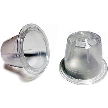 C/ápsulas reutilizables de Nespresso Vainas recargables para m/áquinas Nespresso Silver Lid /Última generaci/ón OriginalLine Compatible Only Paquete de 6